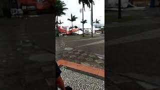 Chuva e ventos causam estrago em Paranaguá