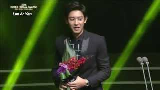 "151009 ""Best New Actor"" Award At The 2015 Korea Drama Awards"
