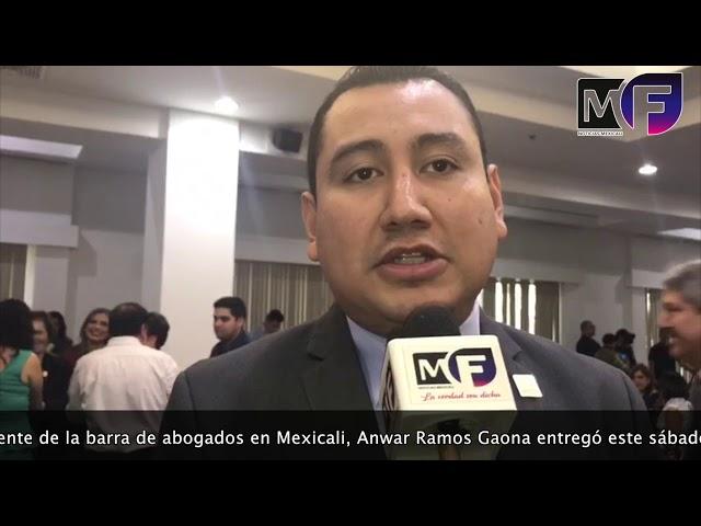 Entrega Barra de Abogados de Mexicali reconocimientos