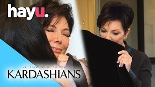 Kris Breaks Down Holding Bruce's Old Clothes | Keeping Up With The Kardashians