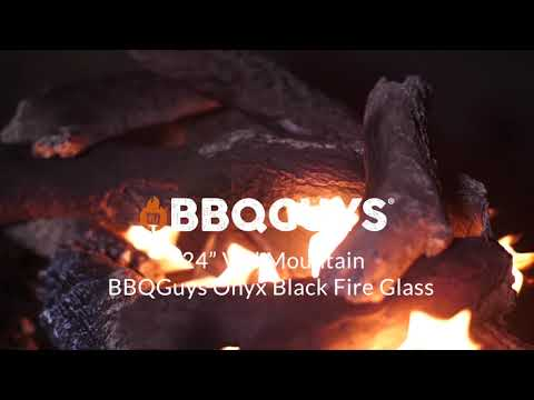 24in Vail Mountain BBQGuys Onyx Black Fire Glass