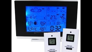 Wireless Indoor Outdoor Weather Station Thermometer + 2 sensors