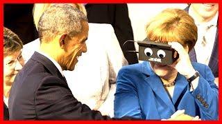 Barack Obama and German Chancellor Merkel Kirchentag Speech Germany