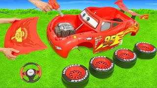 Cars, Fire Truck, Excavator, Tractor & Train Ride On Assembling | Toy Vehicles for Kids