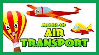 Air Transport for Children - Transport Videos for Children | Kids Hut