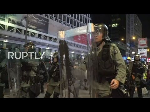 LIVE: Protesters march through Hong Kong's most populous area