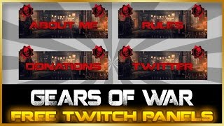 FREE Twitch Panel/Button Download | Gears of War Theme
