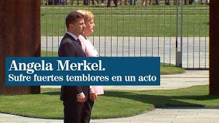 Los preocupantes temblores de Angela Merkel durante un acto en Berlín