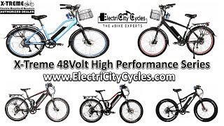 BEST VALUE eBikes 2018 | X-Treme 48Volt Spec Reviews - Catalina, Santa Cruz, Rubicon, Sedona