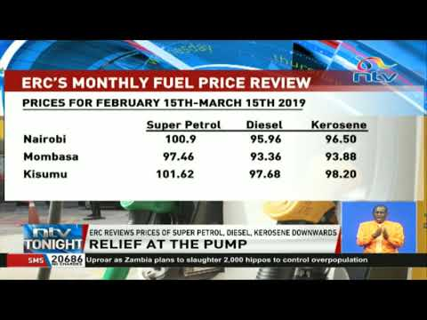 ERC reviews prices of super petrol, diesel, kerosene downward
