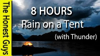 8 HOURS - Relaxing Nature Sounds. Rain on Tent Roof - Sleep - Insomnia - Meditation
