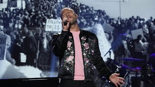 John Legend Performs His Song 'Preach'