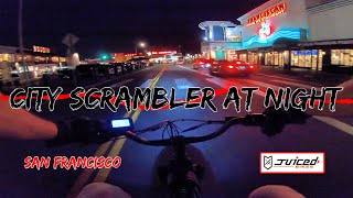 Juiced Bikes City Scrambler at Night San Francisco Ebike Ride | GoPro Hero 7 RAW FPV Bodycam Footage