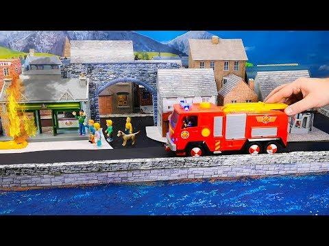 Feuerwehrmann Sam: Gefährliche Lupe   Feuer am Pontypandy Supermarkt   Spielzeug Film für Kinder