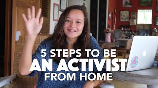 How To Be An Activist From Home   YOUTHTOPIA