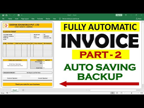 INVOICE PART 2 - How To Automatically Save Invoice Entries For Future Reference in Excel | HINDI