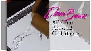 Unboxing und Review Grafiktablett XP Pen Artist 12 mit Display |  digitale vs traditionelle Kunst