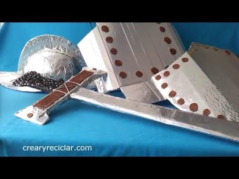 Armadura de conquistador con cartón