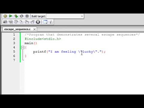 C Programming Tutorial – 25: Escape Sequences