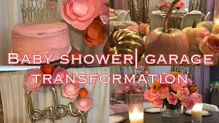 Baby Shower In The Garage?!? | Beautiful DIY Decor Transformation | Little Pumpkin Themed
