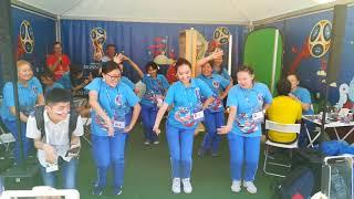 Якутские волонтеры на чемпионате мира по футболу в Санкт-Петербурге