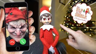 CALLING ELF ON THE SHELF ON FACETIME AT 3 AM! (HE COMES ALIVE!)