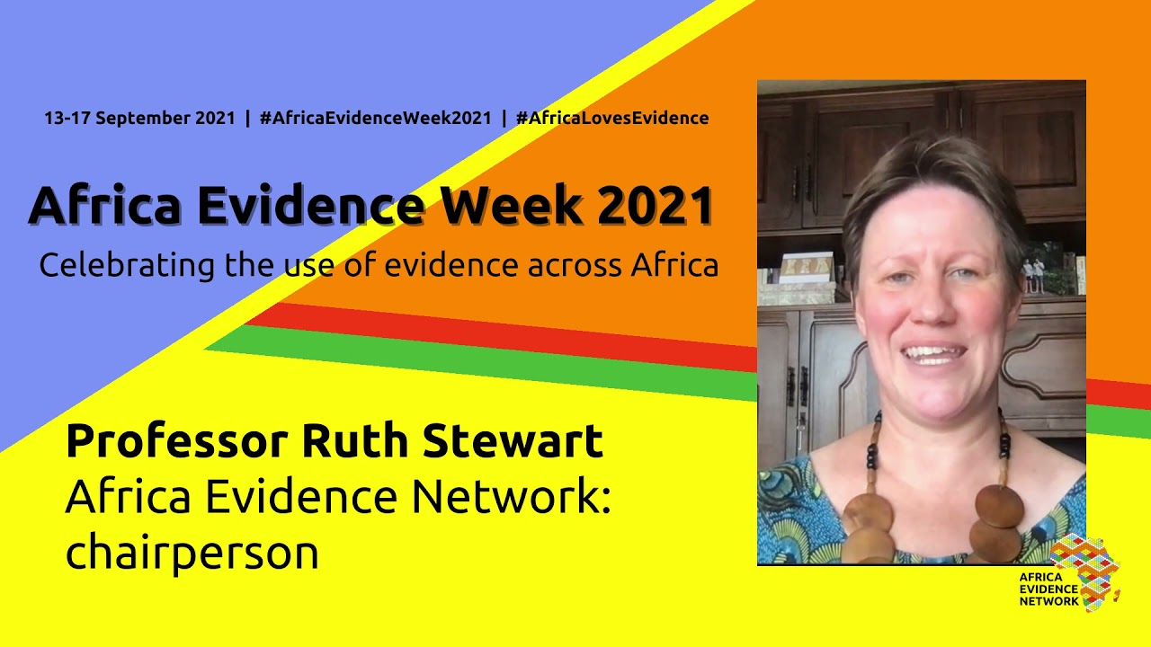 Closing Africa Evidence Week 2021: a thank you from Ruth Stewart