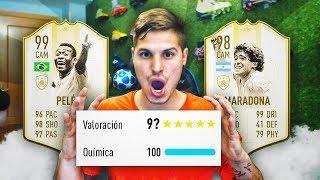 ESTE FUT DRAFT CON MARADONA Y PELÉ SUPER PRIME ES INCREIBLE!!! | FIFA 19