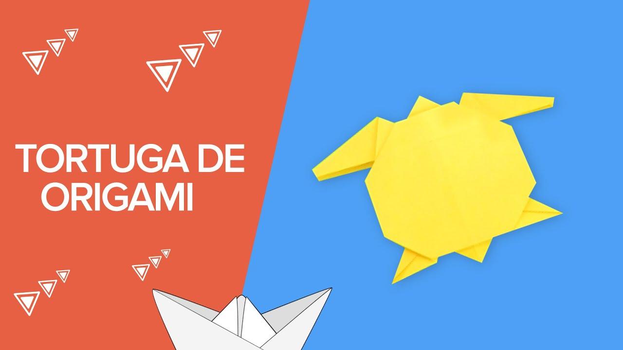 Cómo hacer una tortuga de origami paso a paso | Papiroflexia para niños
