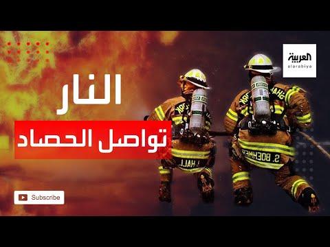 العرب اليوم - شاهد: الحرائق تتواصل وتلتهم الأخضر واليابس في الغرب الأميركي