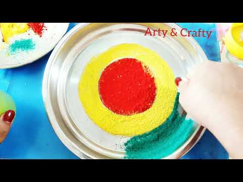 Aarti Thali Decorations with Rangoli in 5 minutes /Pooja Thali Decoration /Rakhi Thali Decoration
