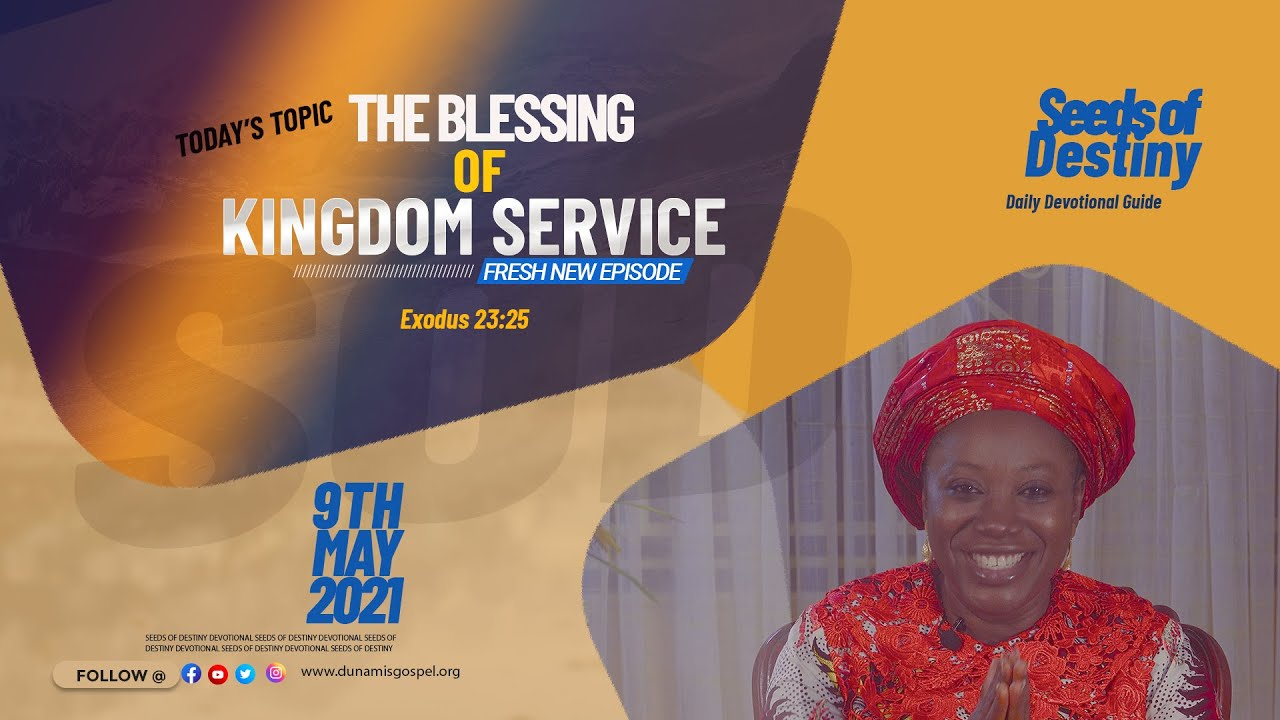 Seeds of Destiny 9 May 2021 Summary Video by Dr Becky Paul-Enenche
