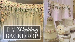 Making My Brothers Wedding Backdrop | DIY | Tutorial