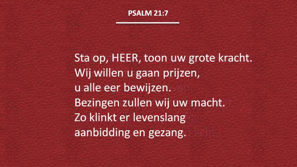 Levensliederen – Psalm 21