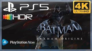 [4K/HDR] Batman : Arkham Origins / Playstation 5 Gameplay (via PS Now)