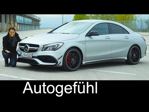 Mercedes CLA Coupé 45 AMG FULL REVIEW test driven 381 hp Mercedes-AMG