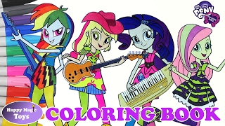 My Little Pony Rainbow Rocks Coloring Book Compilation 1 Happy Magic Toys