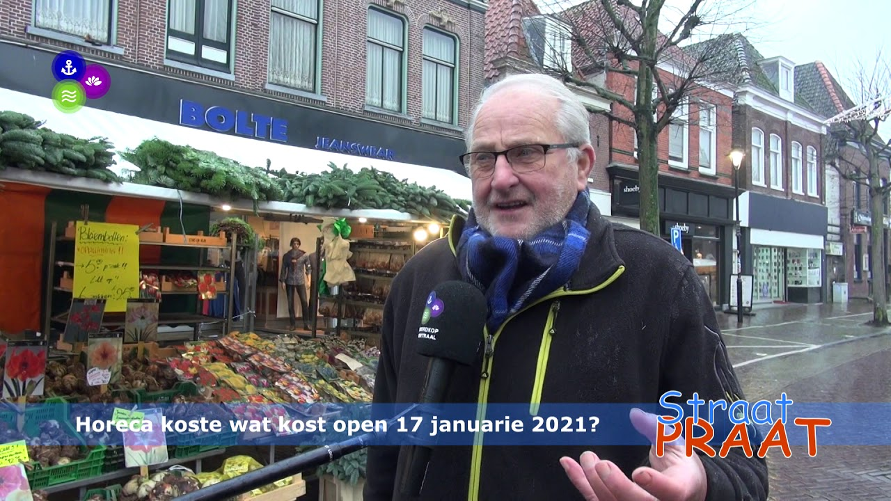 Straatpraat over heropening horeca