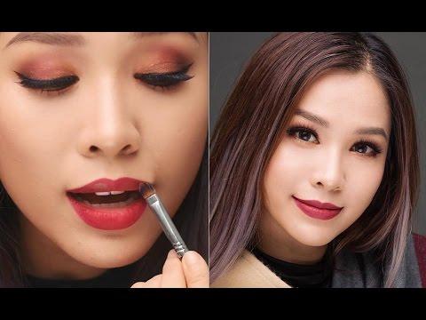 Burgundy Makeup - Trang điểm ấm áp với tông đỏ rượu [ QUÁCH ÁNH ]