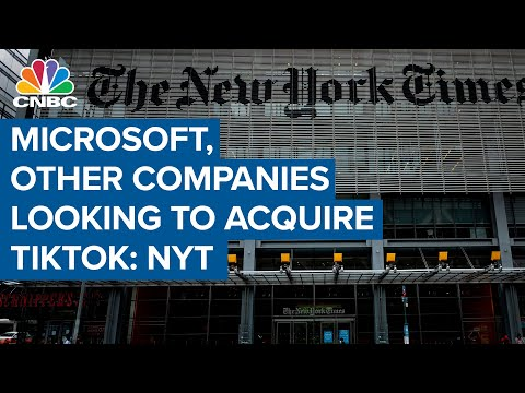 Microsoft and other companies are looking to acquire TikTok: The NY Times reporter