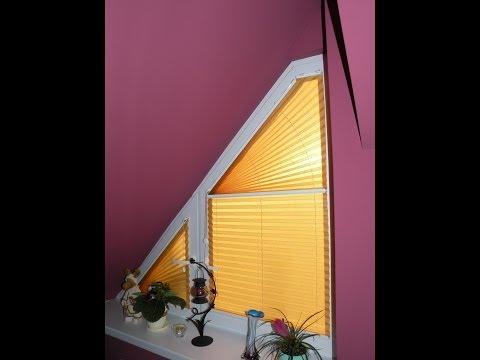 Sonnenschutz - Dreieckfenster - Plissee korrekt ausmessen