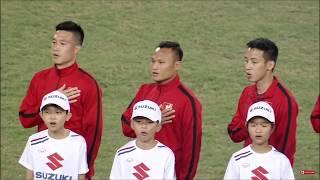 Vietnam National Anthem AFF Cup 2018   Tiến Quân Ca Vang Lên đầy Oai Hùng Tại Chung Kết AFF Cup 2018