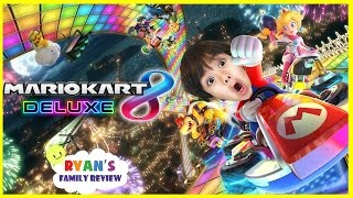 Ryan and Daddy Game Night! Let's Play Mario Kart 8 Deluxe with Ryan's Family Review