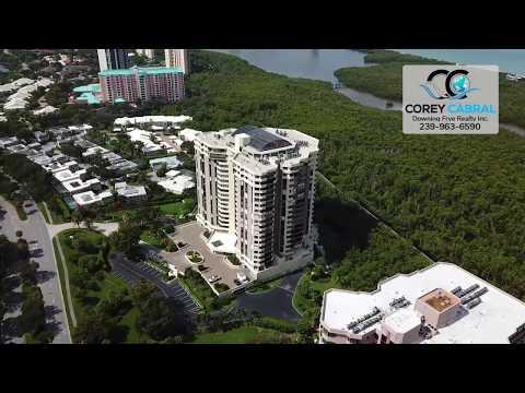 Pelican Bay Grosvenor Naples Florida 360 degree fly over video