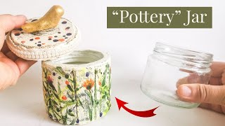 Decorative Poterry Jar DIY Craft Idea - Air Dry Clay Tutorial