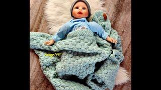 820**Meine Projekte*Gestrickte Decke für Neugeborene*Babydecke mit Muster 802* Beschreibung