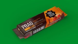 Food Packaging Design - Peanut Bar - Photoshop Tutorial