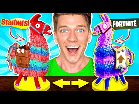 FORTNITE CANDY CHALLENGE! Learn How To Make DIY Edible Fortnite Food You Can Eat In Real Life