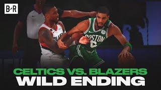 Final 5 Minutes of Celtics vs. Blazers   WILD Finish