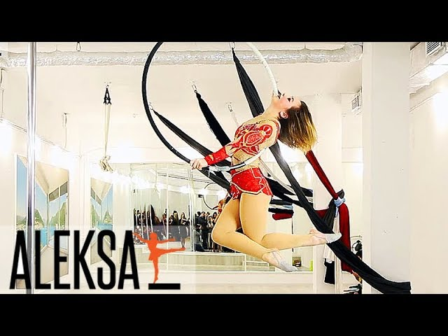 Танец на кольце - акробатика на кольце. Воздушная гимнастика. Влада Кушнир, тренер Aleksa Studio